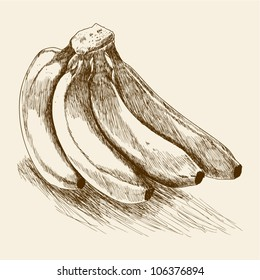 Sketches of a banana