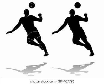 sketch-headed soccer player  , black and white drawing, white background
