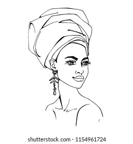 Art Drawing African Lady Images Stock Photos Vectors Shutterstock