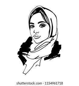 Hijab Sketch Images Stock Photos Vectors Shutterstock