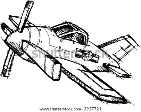 Sketchy Airplane Vector Illustration Stock Vector Royalty Free