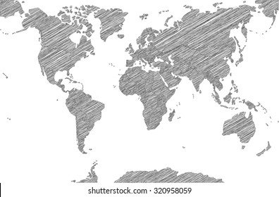 Sketchy Map of the World