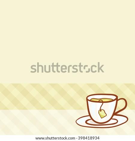 Sketchy Vector Tea Party Invitation Vector Stock Vector Royalty
