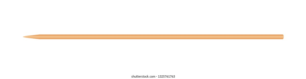 skewers wooden bamboo pointed tip stick thin isolated on white background, wood skewers used to hold pieces foods, tipped chopsticks for skewer barbecue, skewer sticks for BBQ vegetable and fruits