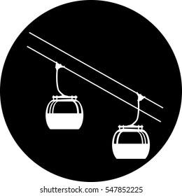 Ski cable lift icon