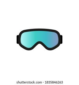 Ski goggles icon. Vector illustration. Flat design.