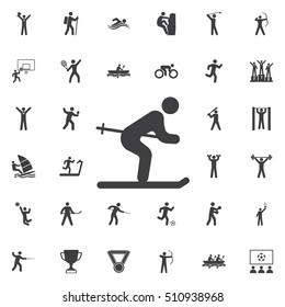 ski icon on the white background. Sport icons universal set for web and mobile