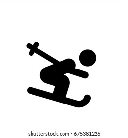 ski icon in trendy flat style isolated on background. ski icon page symbol for your web site design ski icon logo, app, UI. ski icon Vector illustration, EPS10.