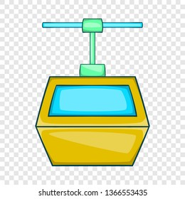 Ski lift gondola icon in cartoon style isolated on background for any web design