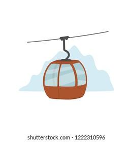 ski lift gondola isolated vector illustration graphic