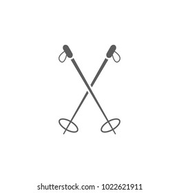 ski poles icon. Element of sport for mobile concept and web apps. Icon for website design and development, app development. Premium icon on white background