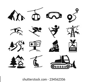 Ski resort icons