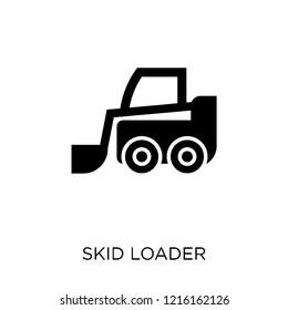 skid loader icon. skid loader symbol design from Industry collection. Simple element vector illustration on white background.