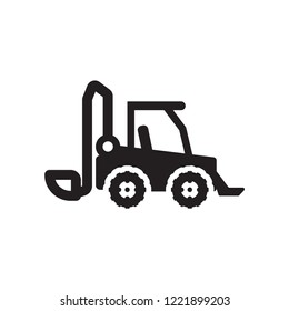 skid loader icon. Trendy skid loader logo concept on white background from Industry collection. Suitable for use on web apps, mobile apps and print media.