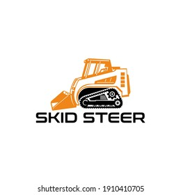 skid steer model excavator logo design nuances tough, strong and fast