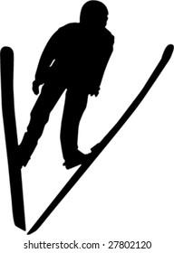 skier jumper vector