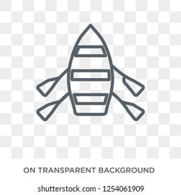 skiff icon. Trendy flat vector skiff icon on transparent background from Nautical collection. High quality filled skiff symbol use for web and mobile