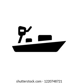 skiff icon. Trendy skiff logo concept on white background from Nautical collection. Suitable for use on web apps, mobile apps and print media.