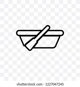 skiff vector linear icon isolated on transparent background, skiff transparency concept can be used for web and mobile