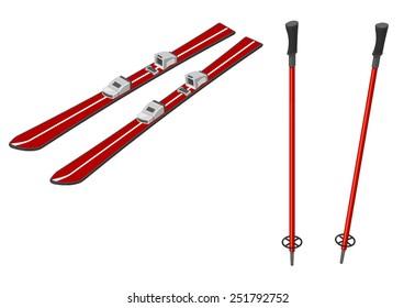 Skiing Sports Equipment.