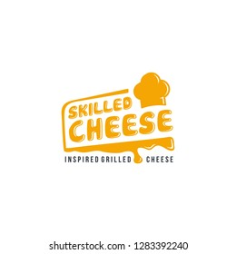 Skilled grilled cheese logo with chef hat