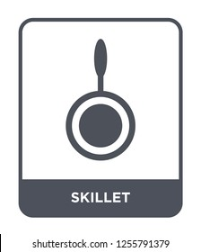 skillet icon vector on white background, skillet trendy filled icons from Kitchen collection, skillet simple element illustration