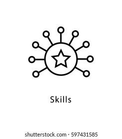 Skills Vector Line Icon