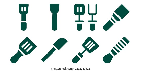 skimmer icon set. 8 filled skimmer icons. Simple modern icons about  - Spatula
