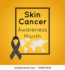 skin cancer awareness month vector logo icon illustration