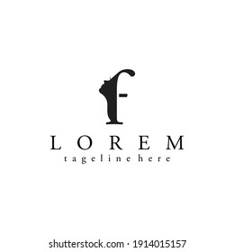 skin care logos or for Beauty salons, logo initial letter F with women's facial silhouettes. vector eps 10.