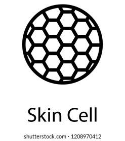 Skin cell icon on white background