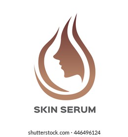 skin serum icon logo and vector , face