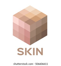 skin tone color icon and vector