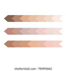 skin tone color infographic. Dark to light chart tones vector illustration