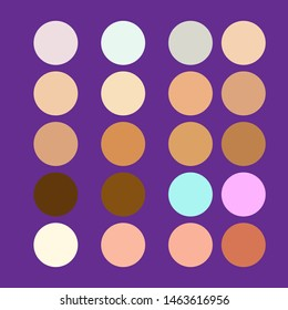 skin tone cosmetic vector background