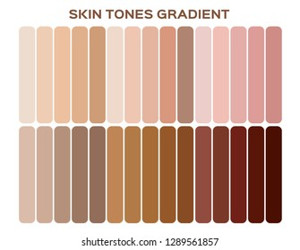 skin tone index color . infographic vector