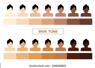 skin tone, vector icon
