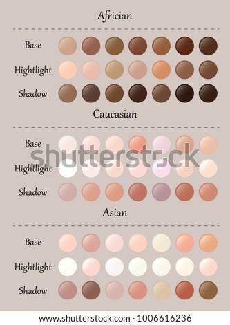 Skin Tones Palette Vector Skin Color Stock Vektorgrafik Lizenzfrei
