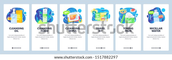 Skincare Products Web Site Mobile App Stock Vector Royalty Free 1517882297
