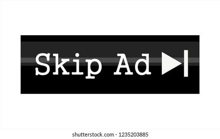 SKIP AD ADVERTISEMENT ISOLATED ICON