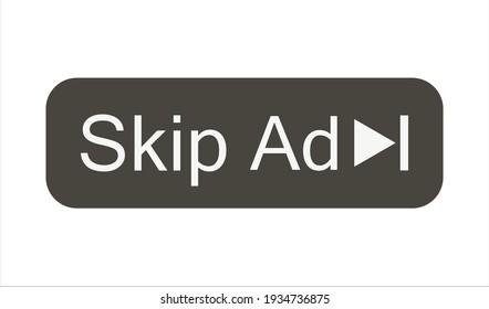 SKIP AD ADVERTISEMENT ISOLATED ICON