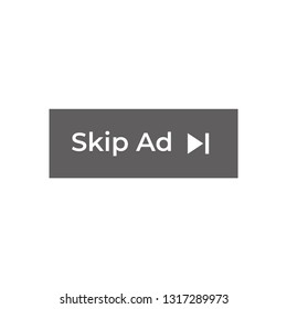Skip Ad button vector