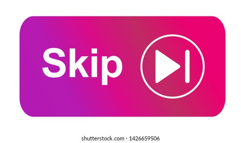 Skip ad button web icon isolated on the white background