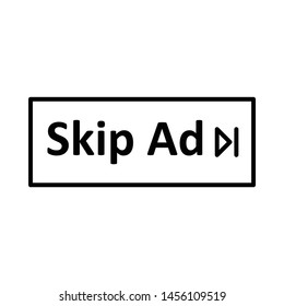 skip ads video icon or logo illustration. perfect use for website, design, pattern, etc.