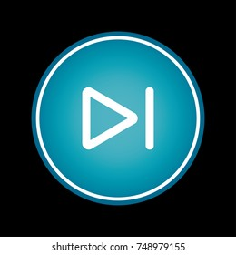 Skip to the end or next file track chapter button blue vector icon