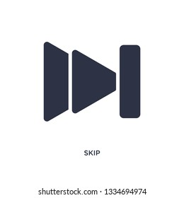 skip icon. Simple element illustration from music and media concept. skip editable symbol design on white background. Can be use for web and mobile.