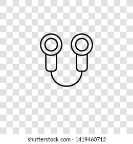 skipping rope icon from  collection for mobile concept and web apps icon. Transparent outline, thin line skipping rope icon for website design and mobile, app development