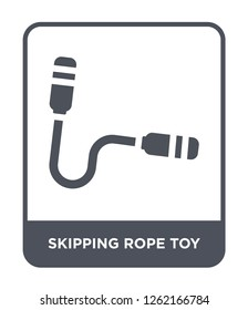 skipping rope toy icon vector on white background, skipping rope toy trendy filled icons from Toys collection, skipping rope toy simple element illustration