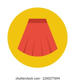 Skirt flat icon. You can be used skirt icon for several purposes like: websites, UI, UX, print templates, presentation templates, promotional materials, info-graphics, web and mobile phone apps.