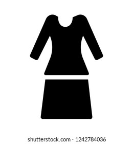 skirt and shirt silhouette icon